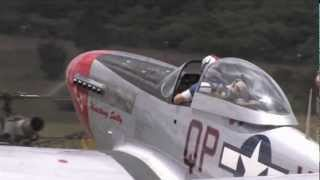 "P-51D Mustang Engine Sounds ""No Music"" - Merlin Engine Start and Gun Port Whistle Sounds"