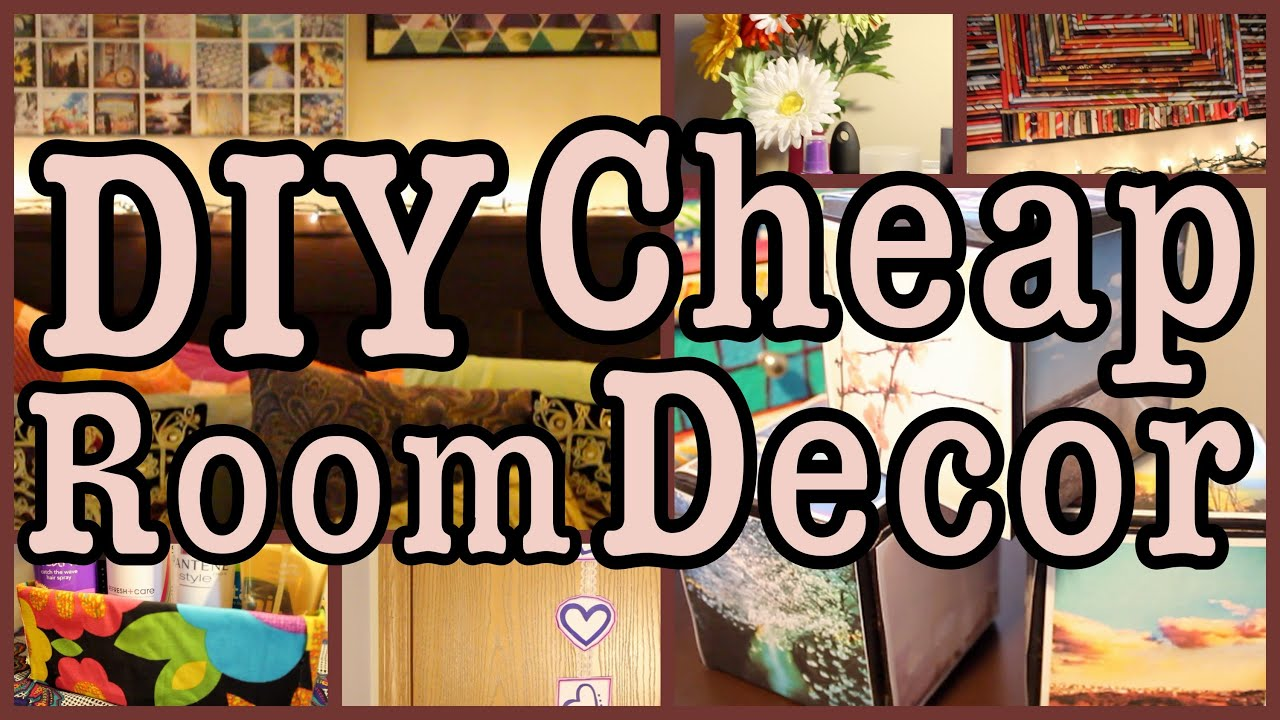 Diy cheap room decor ways to spice up your room youtube for Cheap home stuff
