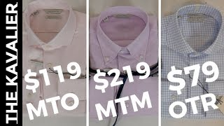 Suitsupply Dress Shirt Offerings Compared - Made to Measure vs Standard vs Made to Order