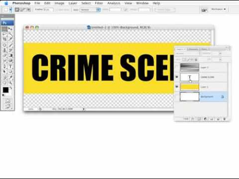 0 CREATE  realistic crime scene tape in photoshop