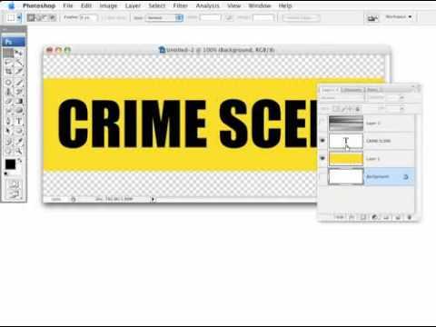 0 CREATE  realistic crime scene tape in photoshop