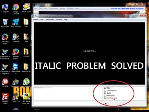 how to solve italic problem in gameranger (solved latest 2016)