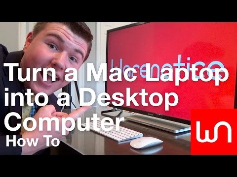 How to Turn a Mac Laptop into a Desktop Computer
