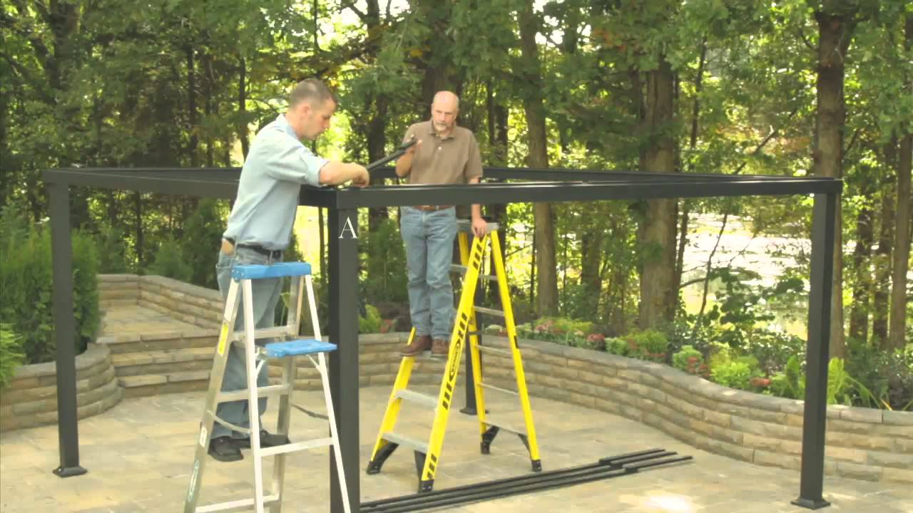 Lowe S Gazebo Installation Video Youtube