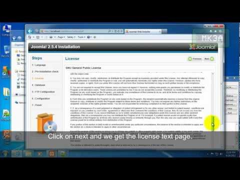 How to install joomla 2.5 using xampp on your own pc Windows 7 64-bit