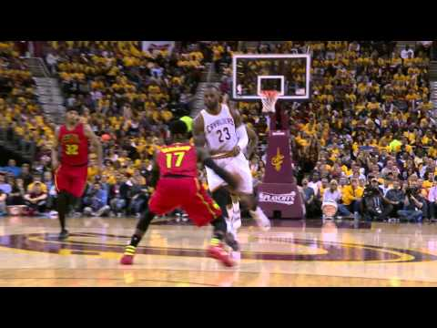 Kyrie Irving Hits LeBron James for the Jam!