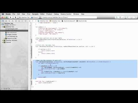 iOS Development with Swift Tutorial - 22 - Grouped Table Views