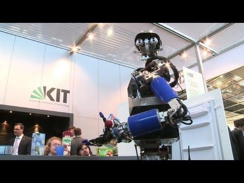 Pole-dancing and human-like robots at Hanover's high-tech fair