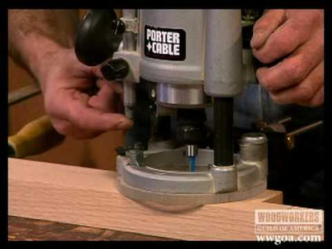 Making Mortises Using a Plunge Router