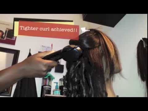 Beliss Pro Curl Genius Curling Wand Killer Tutorial - YouTube