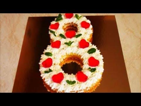 ТОРТ на 8 МАРТА ТОРТ ЦИФРА новый ТРЕНД торт НАБИРАЮЩИЙ популярность