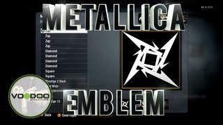 Metallica Ninja Star Emblem/Logo : Call of Duty Black Ops (Emblem Editor Series) Episode 86
