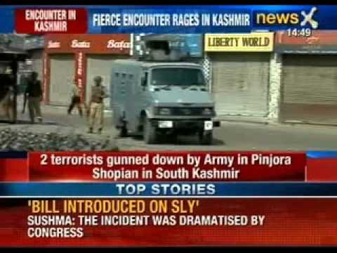 Encounter between terrorists and army raging in Shopian, Kashmir