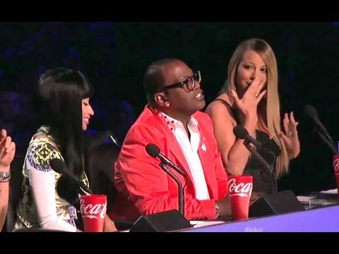 "NICKI MINAJ GIVES MARIAH CAREY Q TIP ""CLEAN THEM EARS OUT"" & ANGIE SINGS RIHANNA ""AMERICAN IDOL"""