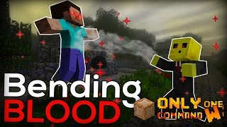 Bloodbending in Minecraft with only one command block. (Telekinesis)