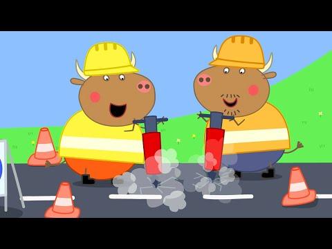 Peppa Pig Full Episodes | Mr Bull's New Road | Cartoons for Children