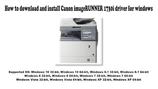 03. How to download and install Canon imageRUNNER 1730i driver Windows 10, 8.1, 8, 7, Vista, XP