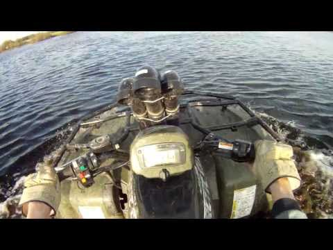 2005 Arctic Cat ATV 500 Playing in some deep water
