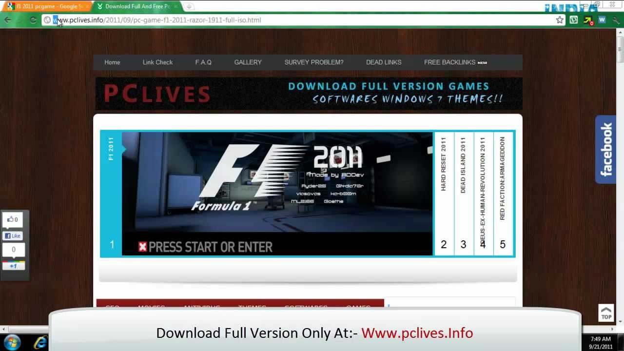 Download F1 Formula 1 2013 PC - BaixeDeTudo Downloads