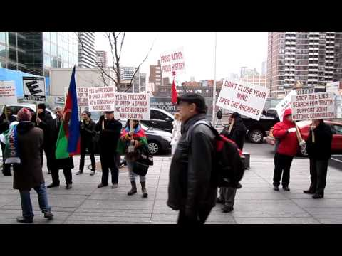 Peaceful Demonstration at the French Consulate in Toronto