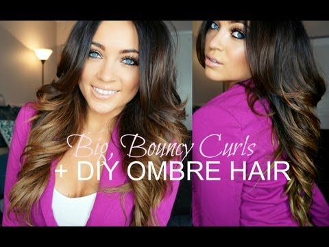 Big. Bouncy Curls Tutorial + DIY Ombre Hair