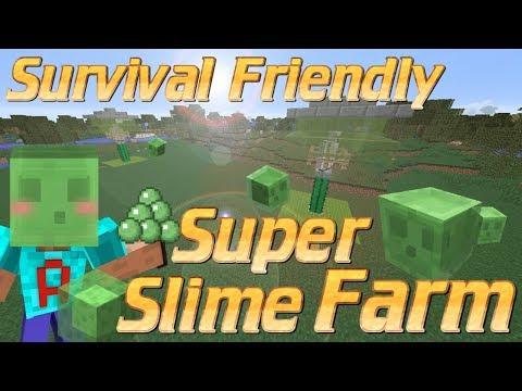 How to make a Slime Farm in Minecraft | Survival Friendly Slime Farm Minecraft Tutorial No Redstone