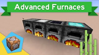 IRON+ FURNACES in Vanilla Minecraft 1.11 | Advanced Furnaces Command Block Creation