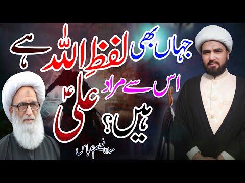 Har Jagha Lafz Allah Say Murad Imam Ali (a.s) Hain !! | Part 7 | Maulana Naeem Abbas| 4K