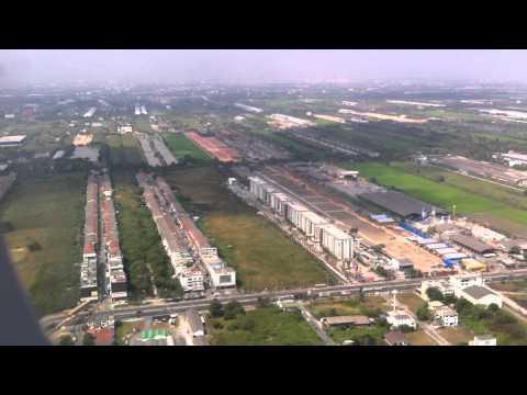 Indigo flight 6E 41 landing at Suvarnabhumi Airport in Bangkok.