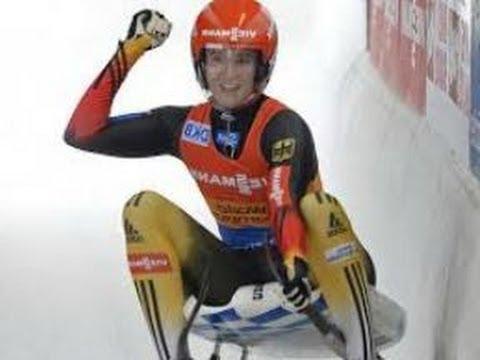 Natalie Geisenberger Big Gold Medal Win Sochi Olympics (2014)