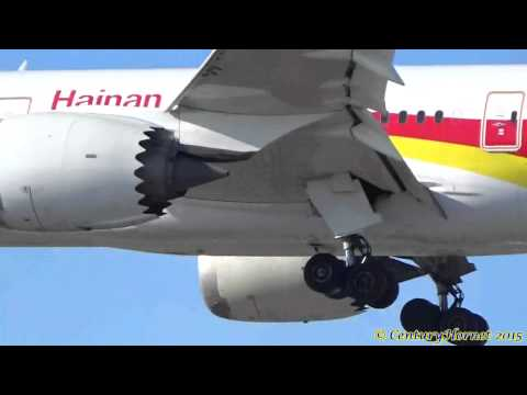 Hainan Airlines Boeing 787-8 Dreamliner Landing RWY 23 @ Toronto Pearson Int'l January 23, 2015