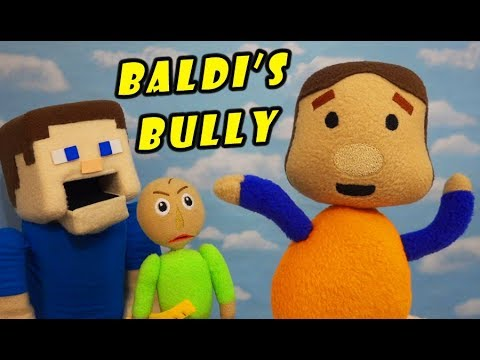 BALDI's BASICS BULLY PLUSH! The Quarter Stealer! Toy Unboxing Toy Review   Puppet Steve