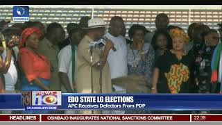 Edo APC Receives PDP Defector During LG Elections Campaign