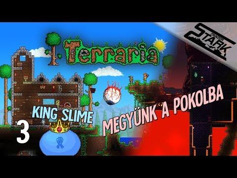 Terraria - 3.Rész (Irány a pokol! / King Slime) - Stark LIVE
