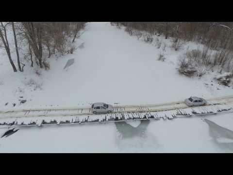 Самарская область, город Отрадный.  мост через реку Кинель