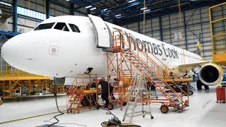 INSIDE AN AIRCRAFT MAINTENANCE HANGAR- Thomas Cook Airlines Hangar Tour- Manchester Airport