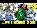 ALL WAVE 3 SWITCHSTRIKE + QR CODES + BATTLES! BEYBLADE BURST EVOLUTION