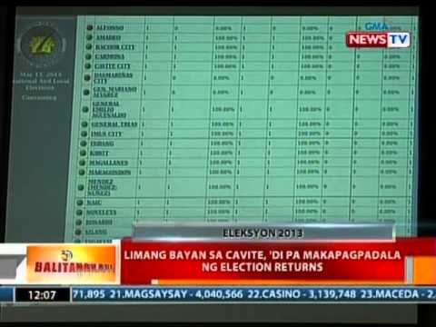 BT: 5 bayan sa Cavite, di pa makapagpadala ng election returns