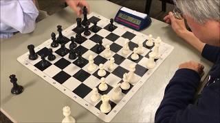 Chess Pressure Can Get Intense! Willis vs Blue Shirt