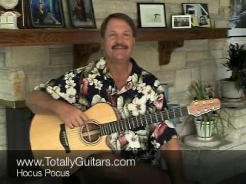 Learn Hocus Pocus Jan Akkerman acoustic guitar lesson