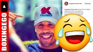 "SERGEY KOVALEV TROLLS ANDRE WARD W/ PHOTOSHOP PIC: ""SON OF JUDGES KNOWS WHO IS THE BEST!"" (DAMN!?!)"
