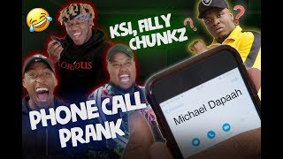 KSI, Chunkz and Filly prank Michael Dapaah | PRANK episode 1