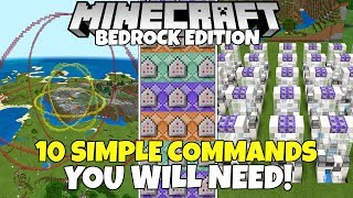 10 Simple & Useful Commands You WILL NEED! Minecraft Bedrock Edition