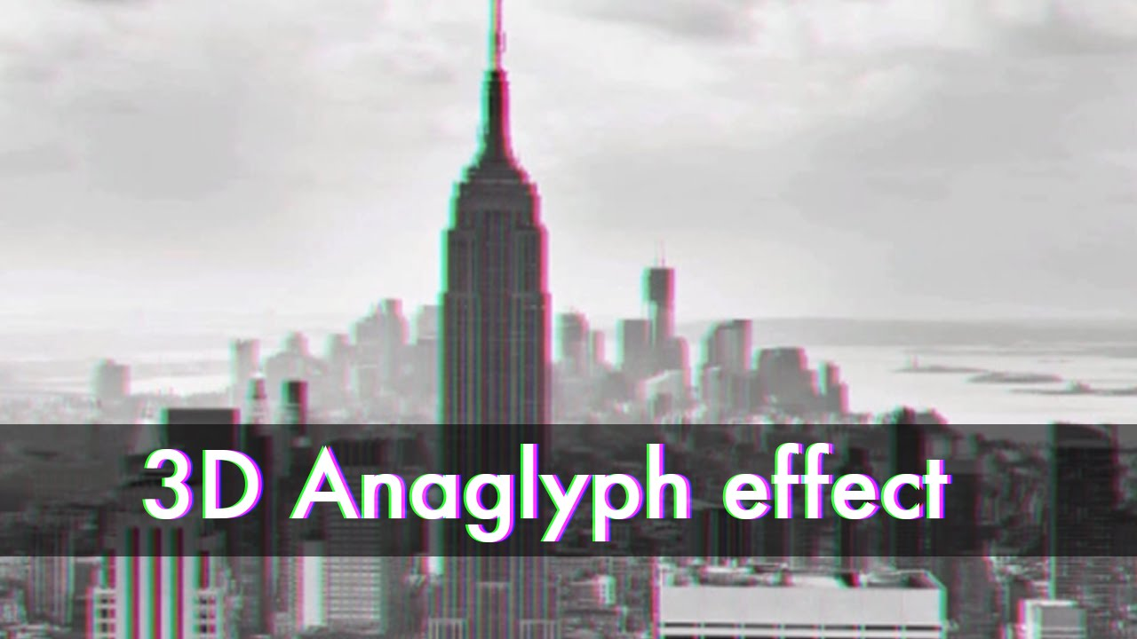 how to add 3d anaglpth effect