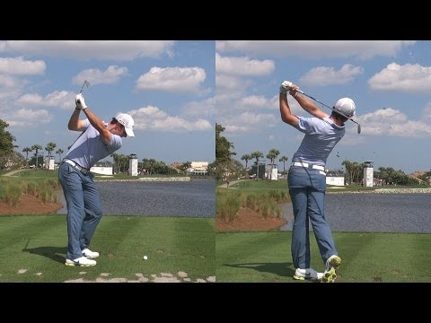 RORY MCILROY - IRON SHOTS 15TH HOLE BEAR TRAP AT 2014 HONDA - REG & SLOW MOTION 1080p