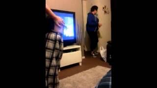 Girl walks in on anal gape