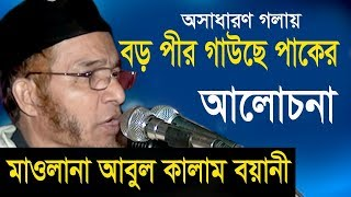 Boro Pir Gausepak | Mawlana Abul Kalam Boyani | Bangla Waz | Azmir Recording | 2017
