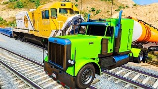 COLOR Truck in Trouble with Trains & Nursery Rhymes Songs