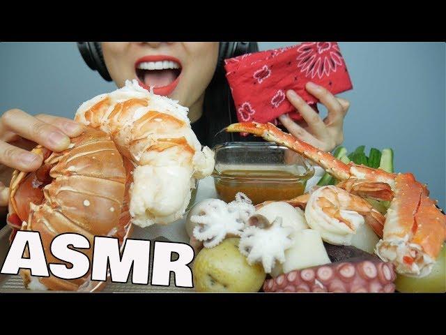 ASMR SEAFOOD Boil Giant LOBSTER  KING CRAB  Octopus  Shrimp EATING SOUNDS  SAS-ASMR