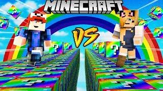 SZALONY WYŚCIG! - TĘCZOWE LUCKY BLOCKI MINECRAFT (Rainbow Lucky Block Race) | Vito vs Bella